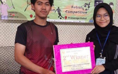 Perwakilan UKM Badminton Universitas Esa Unggul Raih Juara 2 Tunggal Putra Badminton di Gizi Champhionship 2019 UPN Veteran Jakarta