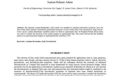 Landau-Khalatnikov Modified Model for Predicting ZNO Ferroelectric Properties