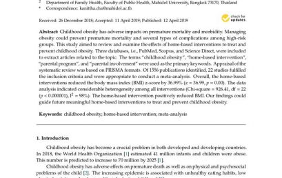 Home-Based Interventions to Treat and Prevent Childhood Obesity: a Systematic Review and Meta-Analysis
