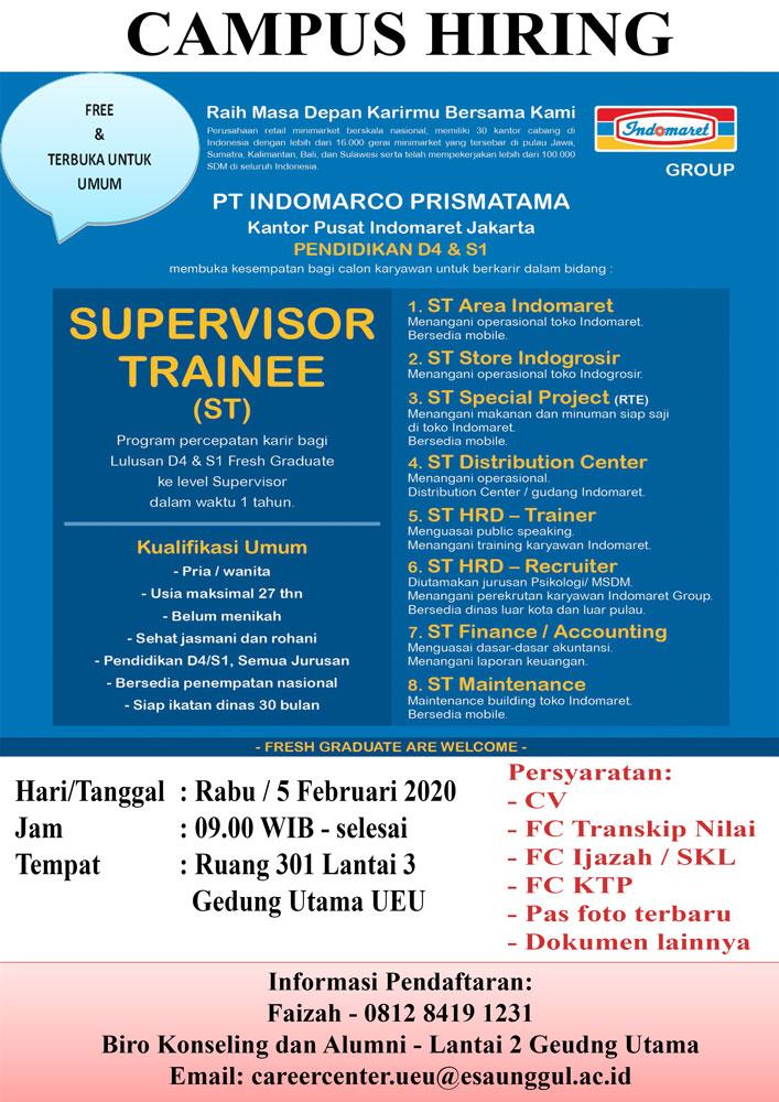 Campus Hiring PT. INDOMARCO PRISMATAMA