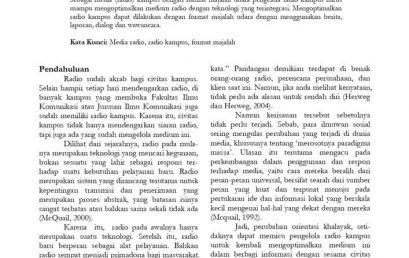 Optimalisasi Media (Radio) Kampus Dengan Format Majalah Udara