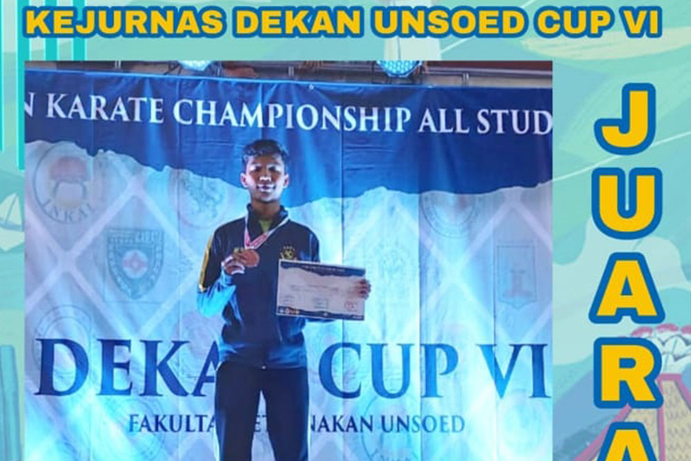 Naufal Raihan, Physiotherapy Student of Esa Unggul University Won in Karate Tournament of the Soedirman University Cup Championship