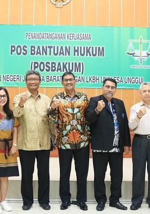 MoU dengan PN Jakarta Barat, LKBH Universitas Esa Unggul Siap Beri Bantuan Hukum Warga Tidak Mampu