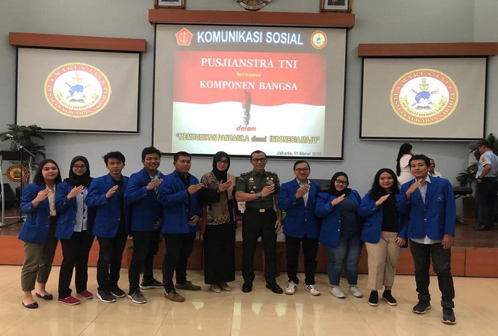 BEM Universitas Esa Unggul Ikuti Pembekalan Pancasila bersama Pusat Pengkajian Strategis (Pusjianstra) TNI