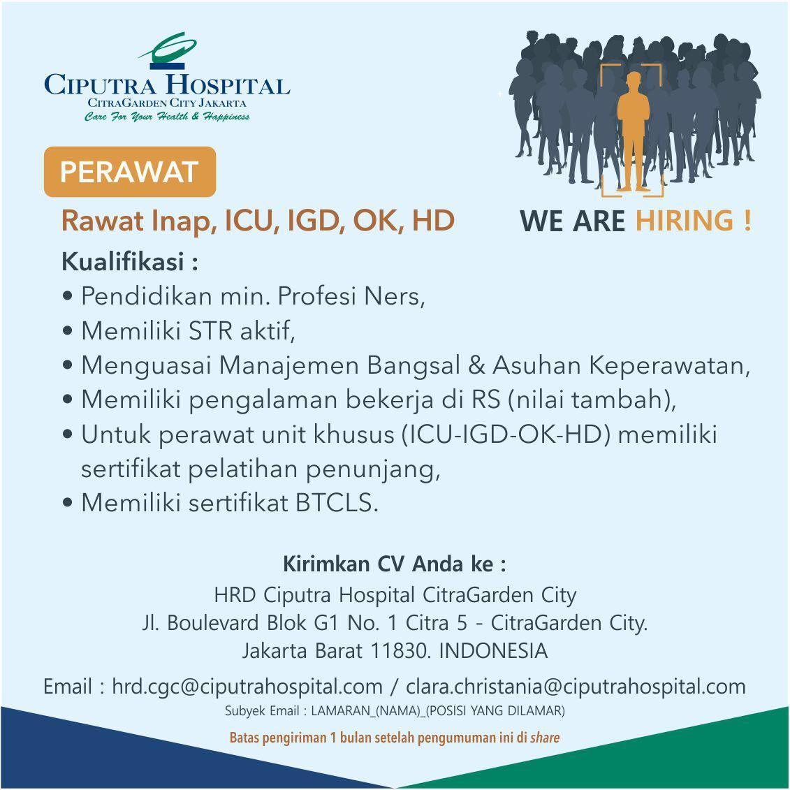 Lowongan Pekerjaan Ciputra Hospital CitraGarden City