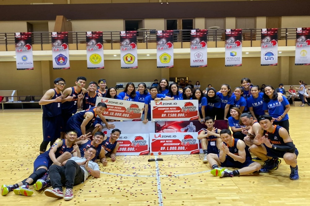 The Swans Kawinkan Gelar Juara di Ajang LA Campus League