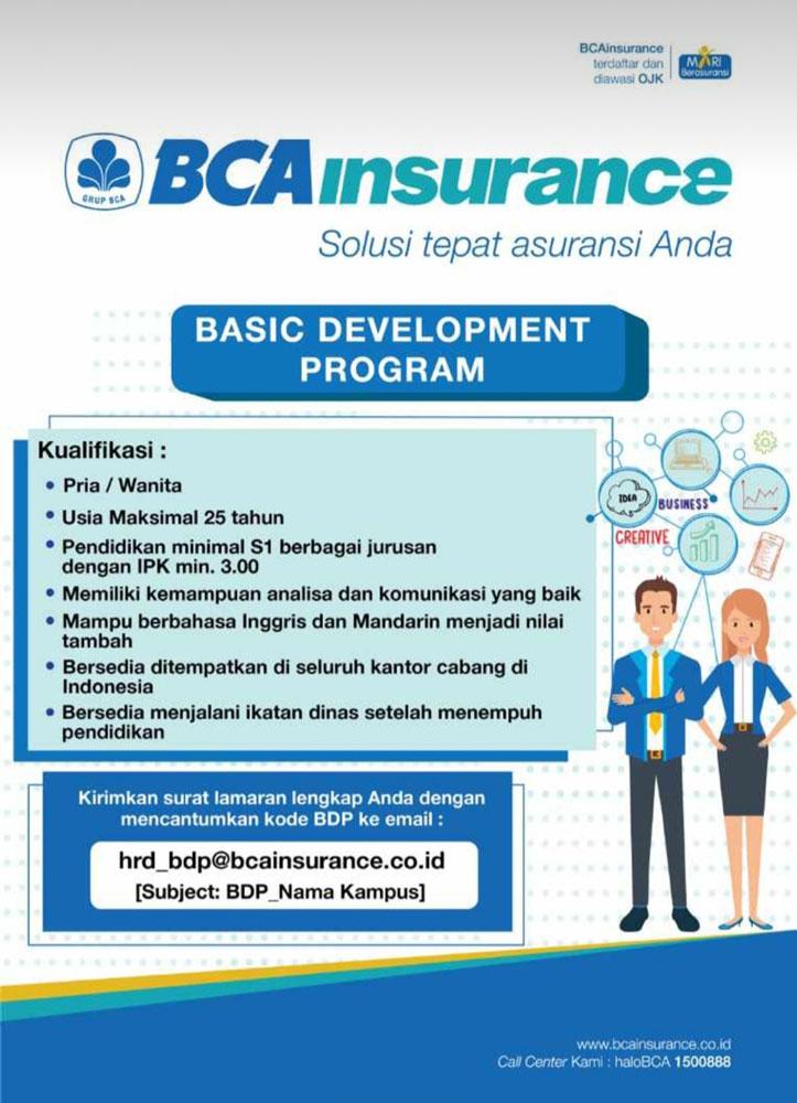 Lowongan Pekerjaan PT BCA Insurance