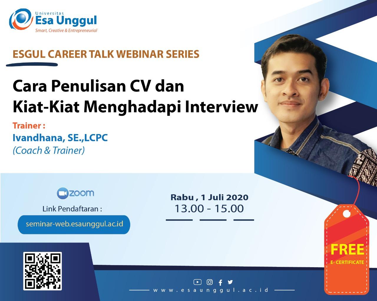 Cara Penulisan CV dan Kiat-Kiat Menghadapi Interview