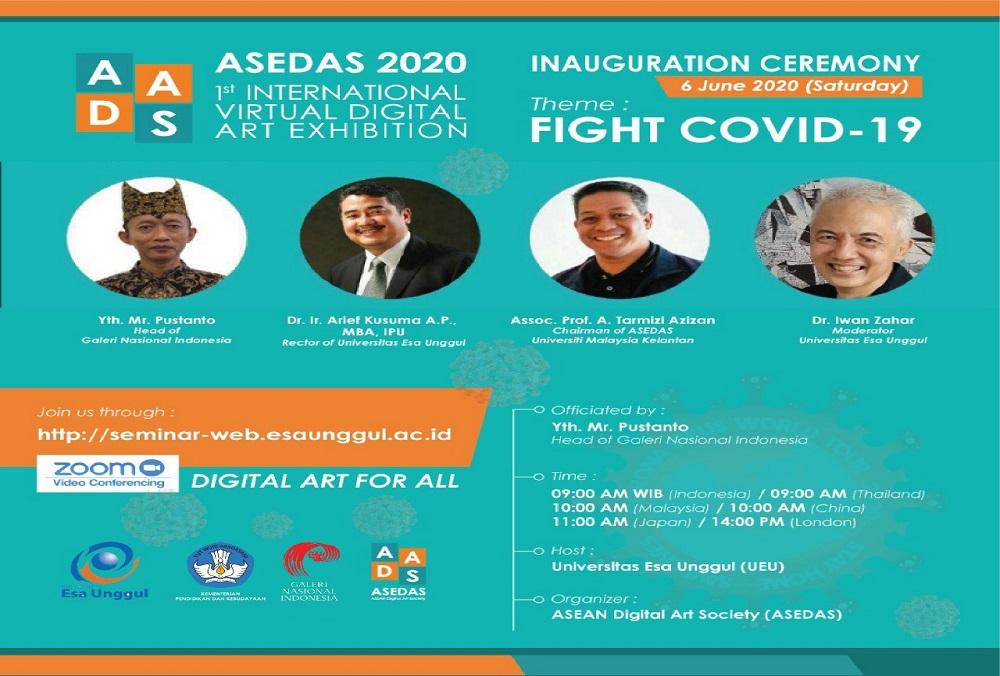 Universitas Esa Unggul menjadi Tuan Rumah Eksibisi Seni Internasional Virtual Pertama ASEDAS 2020