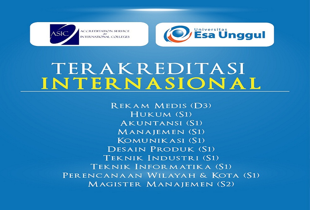 Universitas Esa Unggul Raih Akreditasi Internasional ASIC