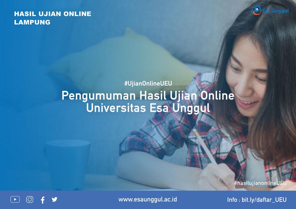 Pengumuman Ujian Online Lampung