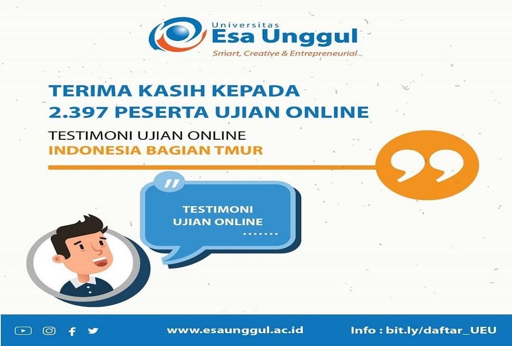 2.397 Siswa dari seluruh Indonesia Ikuti Ujian Online Universitas Esa Unggul