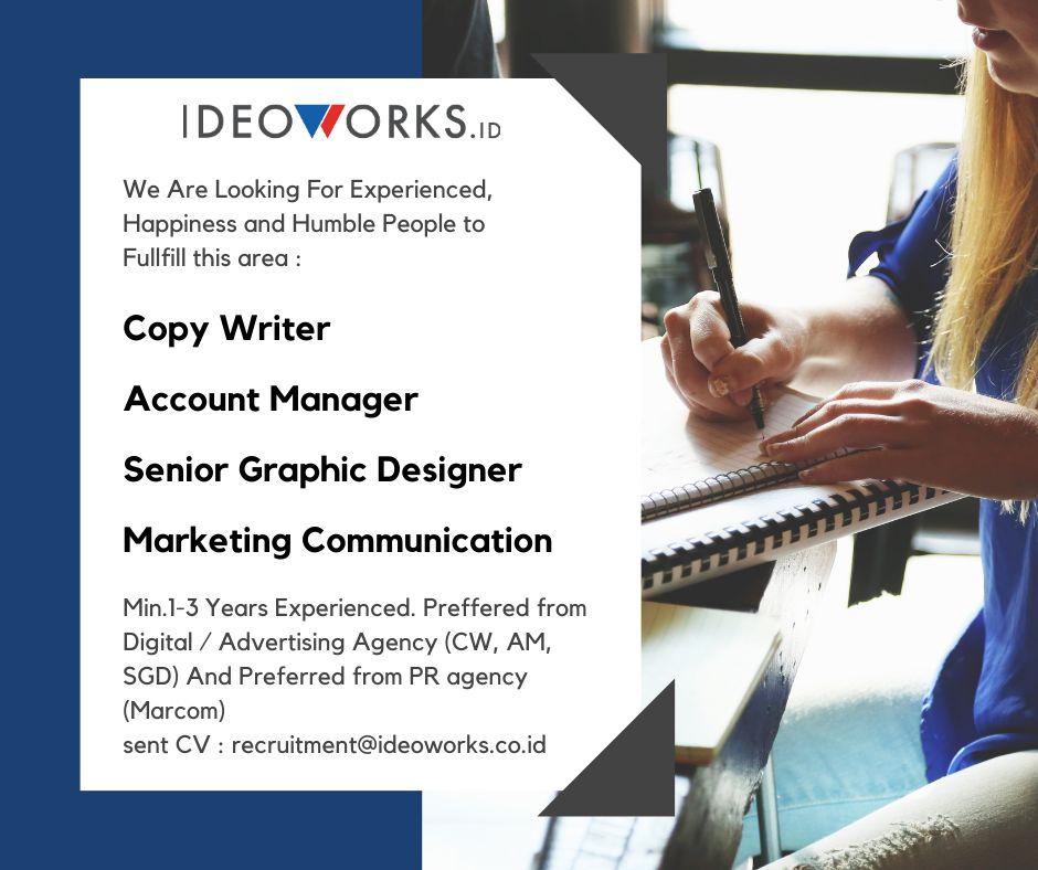 Lowongan Pekerjaan Ideoworks.id