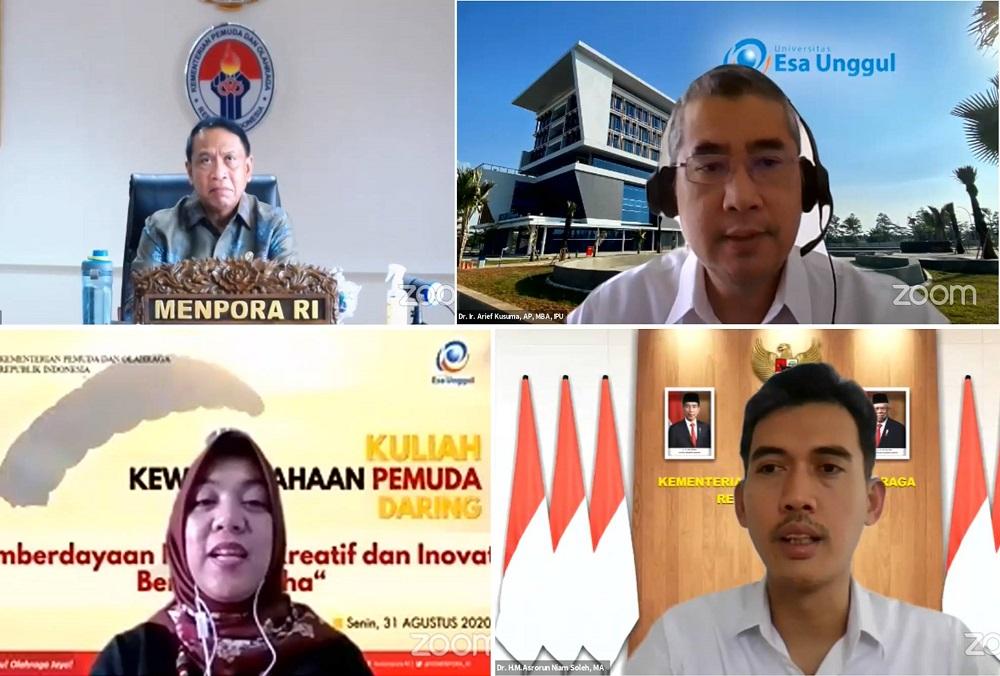 Dorong Peningkatan Enterpreneur Universitas Esa Unggul Gelar Kuliah Kewirausahaan Virtual