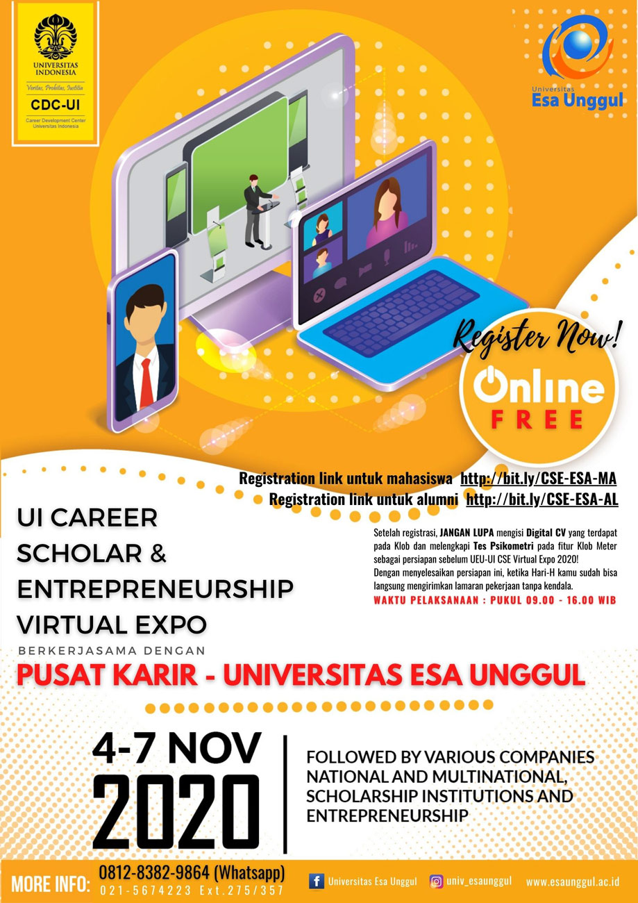 UI CAREER SCHOLAR & ENTREPRENEURSHIP VIRTUAL EXPO 2020