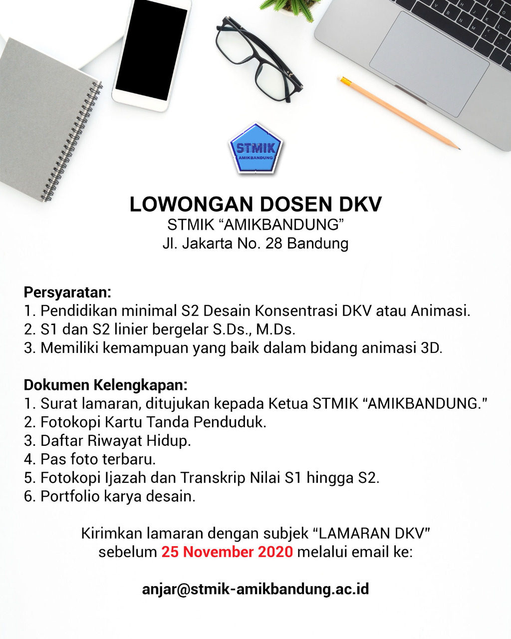Lowongan Pekerjaan STMIK AMIK Bandung