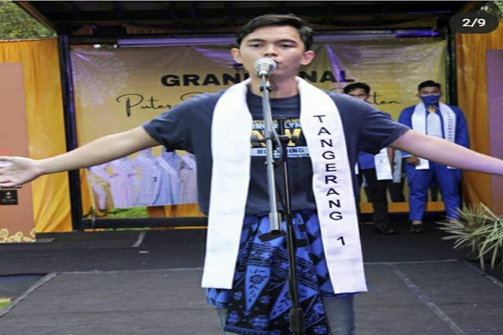 Bayu Mahasiswa Teknik UEU Raih Gelar Putera Wisata Seni Banten 2020