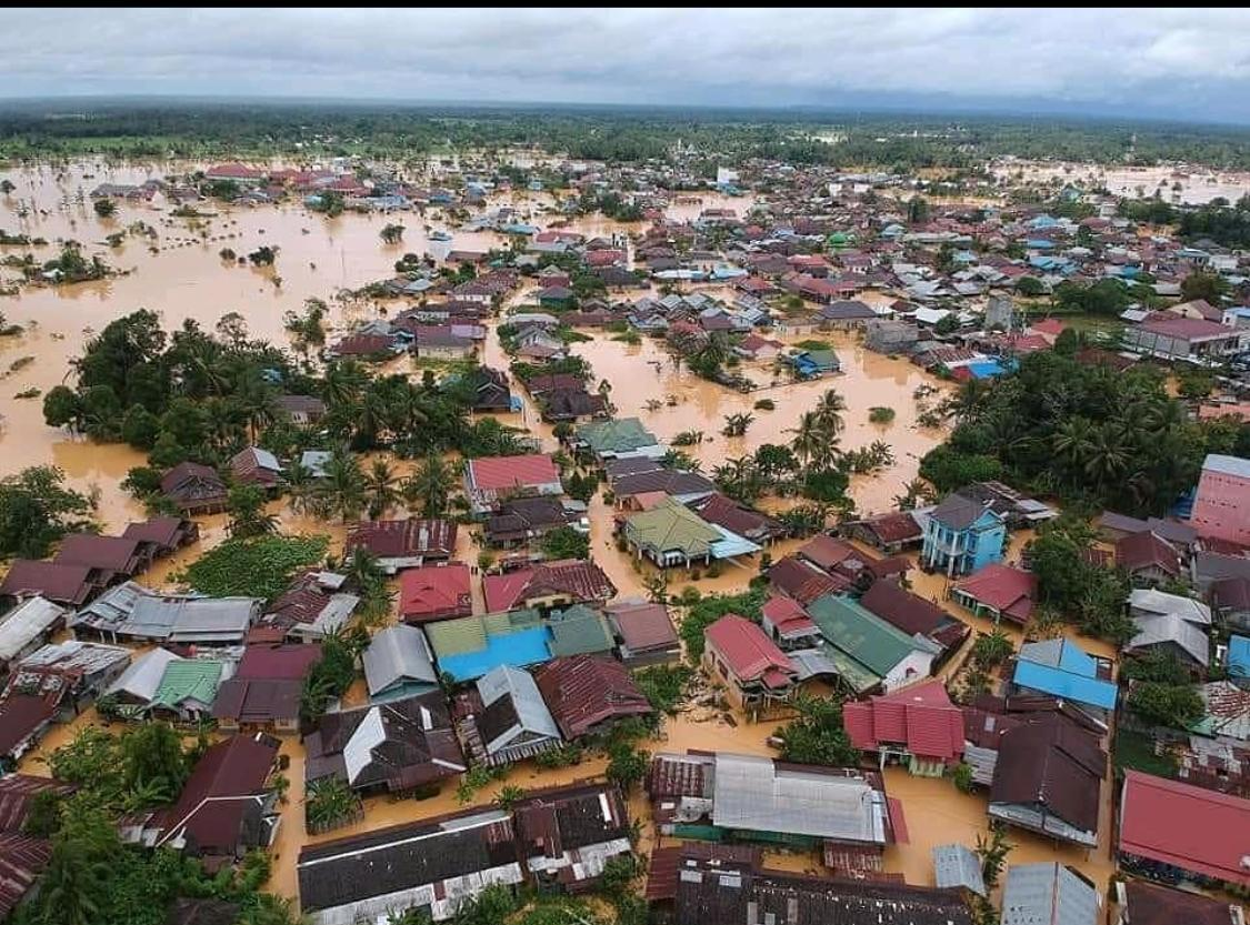 Suasana Banjir Kalimantan Selatan