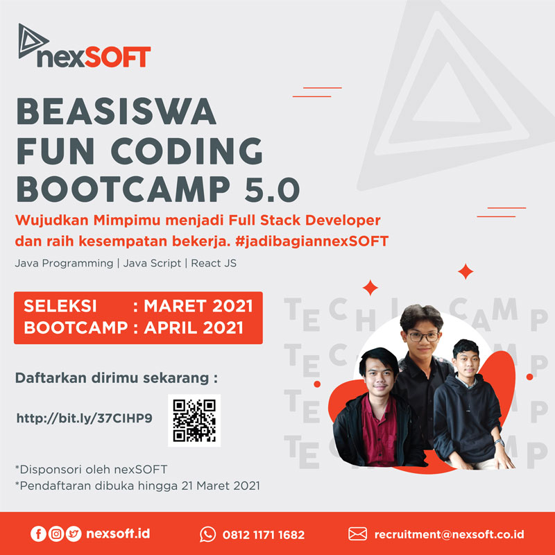 Beasiswa Fun Coding Bootcamp 5.0