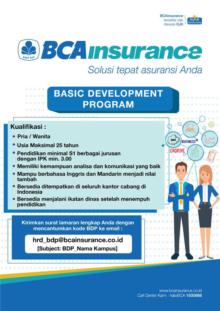 Lowongan Pekerjaan PT Asuransi Umum BCA
