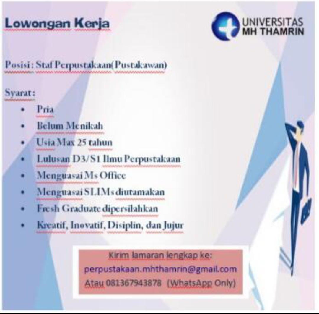 Lowongan Pekerjaan Universitas MH Thamrin