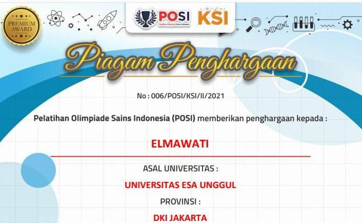 Mahasiswa FKIP UEU Raih Medali di Ajang Kompetisi Sains Nasional 2021